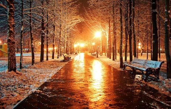 Первый осенний снег фото